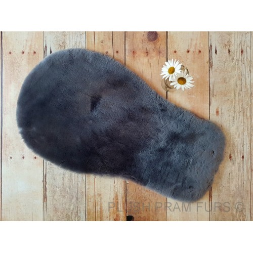 Universal Dark Grey Shorn Wool Sheepskin Liner