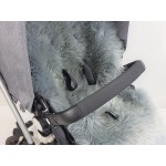 Universal Grey Long Wool Sheepskin Liner