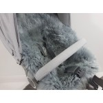 Stokke Silver Grey Long Wool Sheepskin