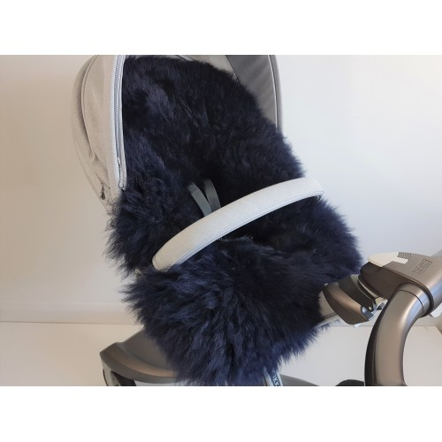 Stokke Dark Navy Blue Long Wool Sheepskin Liner