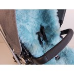 Universal Teal Long Wool Sheepskin Liner