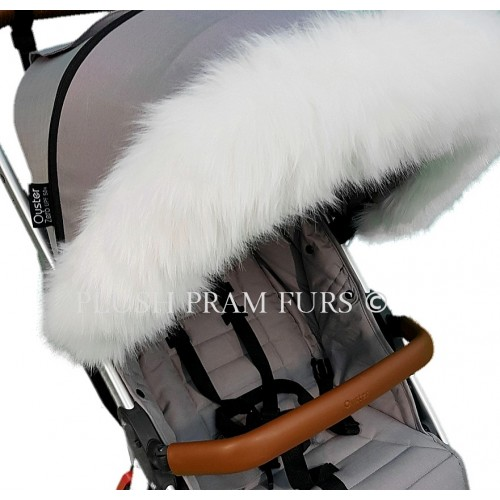 White Fluffy Hood Fur